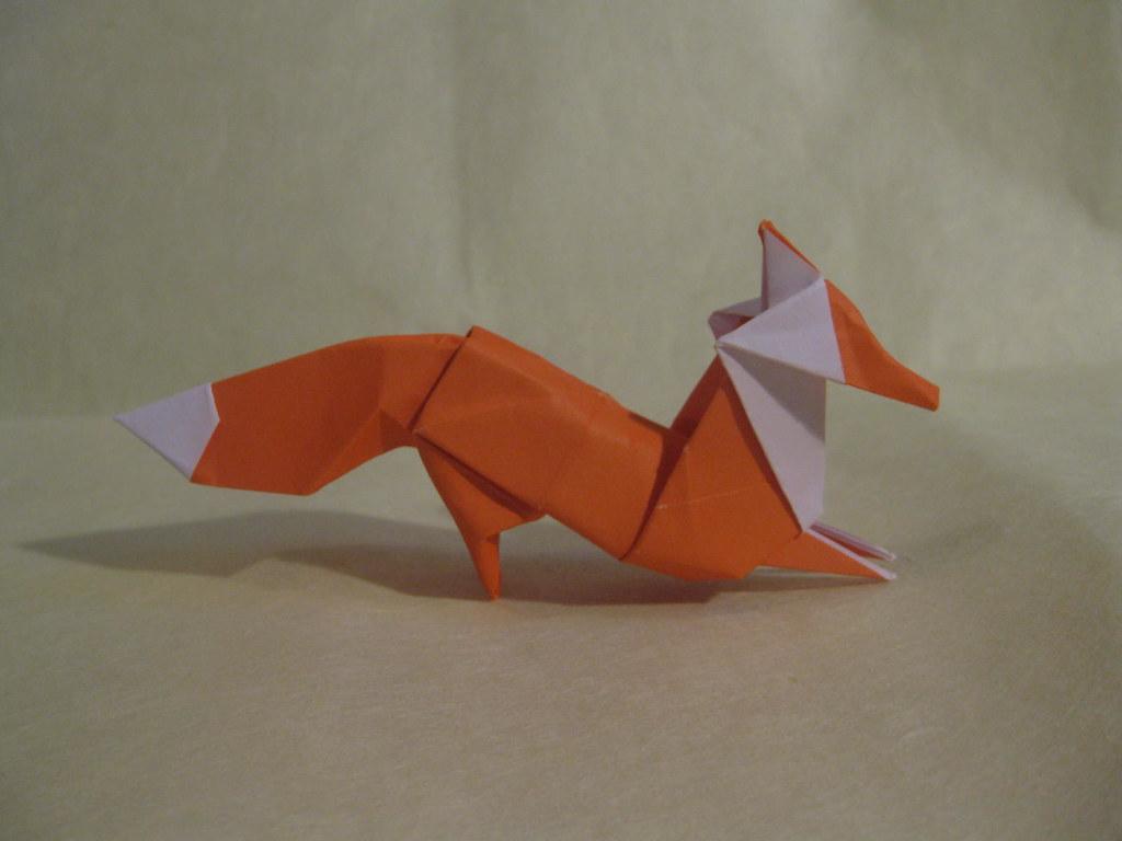 Origami fox | Designed and folded by Mindaugas Cesnavicius ...