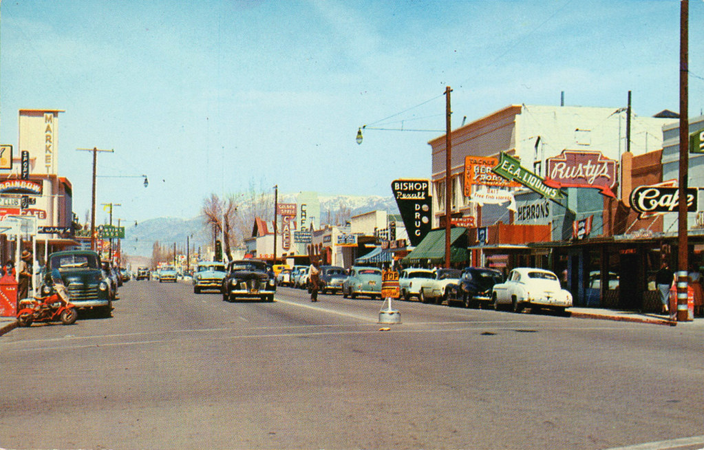 Bishop California Street Scene 1950s Ryan Khatam Flickr