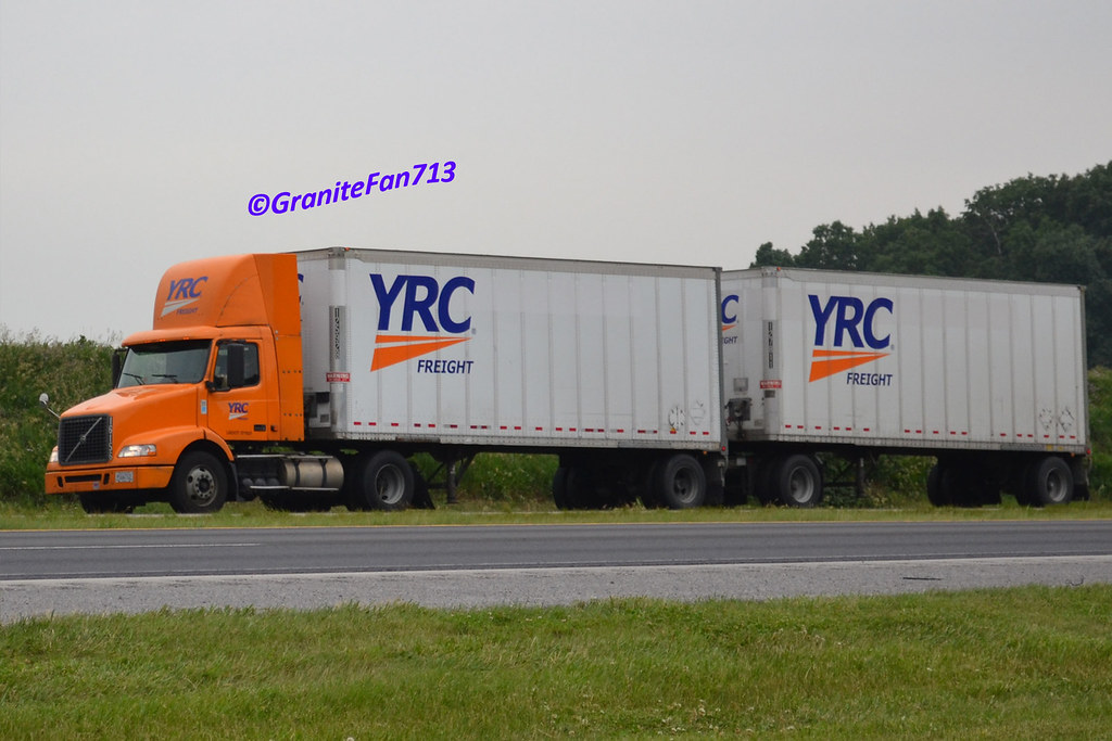 Yrc Freight Volvo Vnm With Doubles Trucks Buses