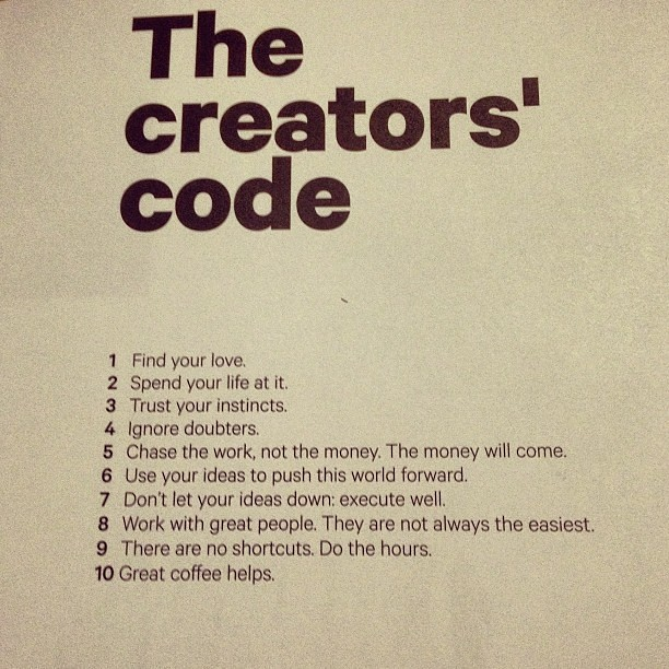 Picture Quotes Creator 2: The Creators' Code By @hiutdenim. Great Advice. I Am Terri