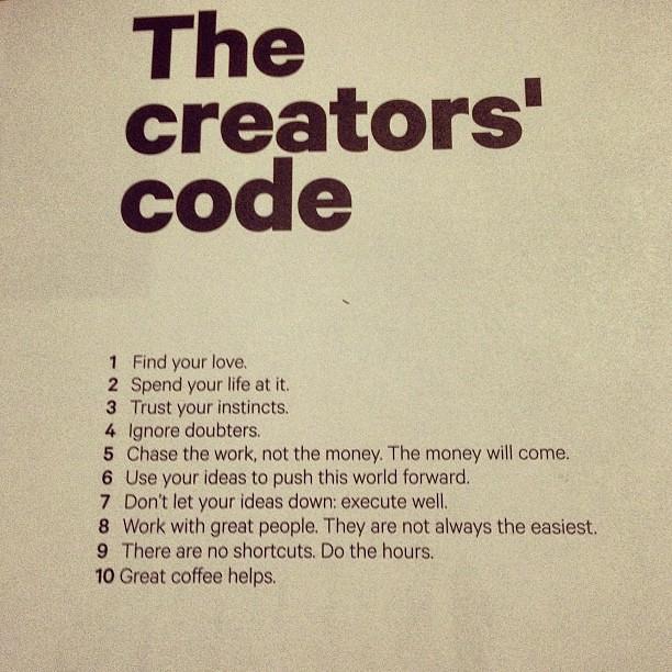 Picture Quotes Creator 2: The Creators' Code By @hiutdenim. Great Advice. I Am Terri