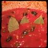 #homemade #Sugo ala #Puttanesca #CucinaDelloZio - Bay leaves