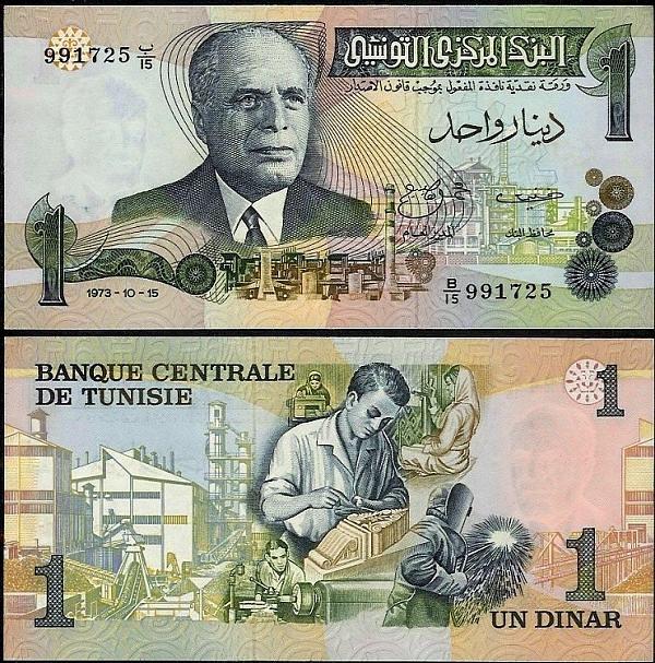 1 Dinar Tunisko 1973, Pick 70