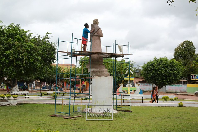 Apolinário e sua cria, Sto Antônio de Pádua, em Mojuí