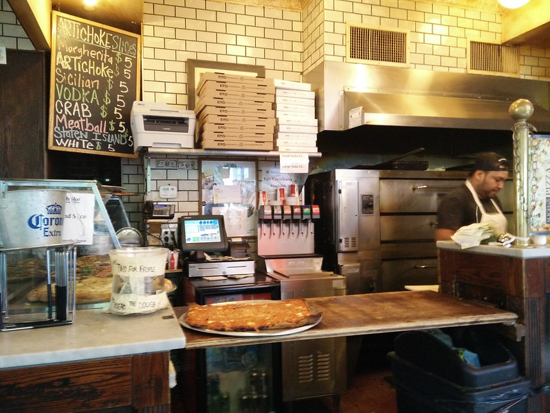Artichoke Basil Pizza Chelsea Counter NYC | packmeto.com