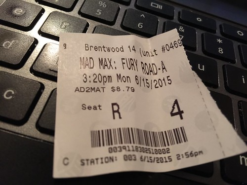 day166: Movie Monday was Mad Max: Fury Road