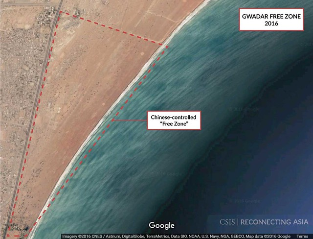 Gwadar Free Zone, Google Earth