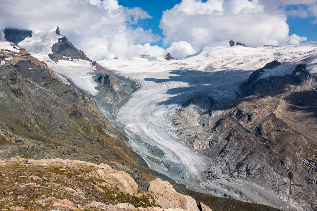 View of the glacier from Rothorn