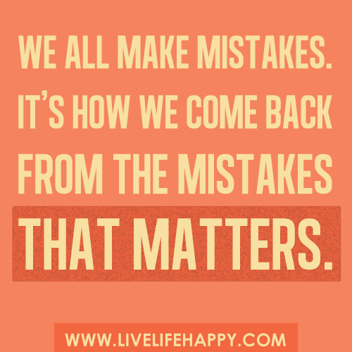 making mistakes in life essay