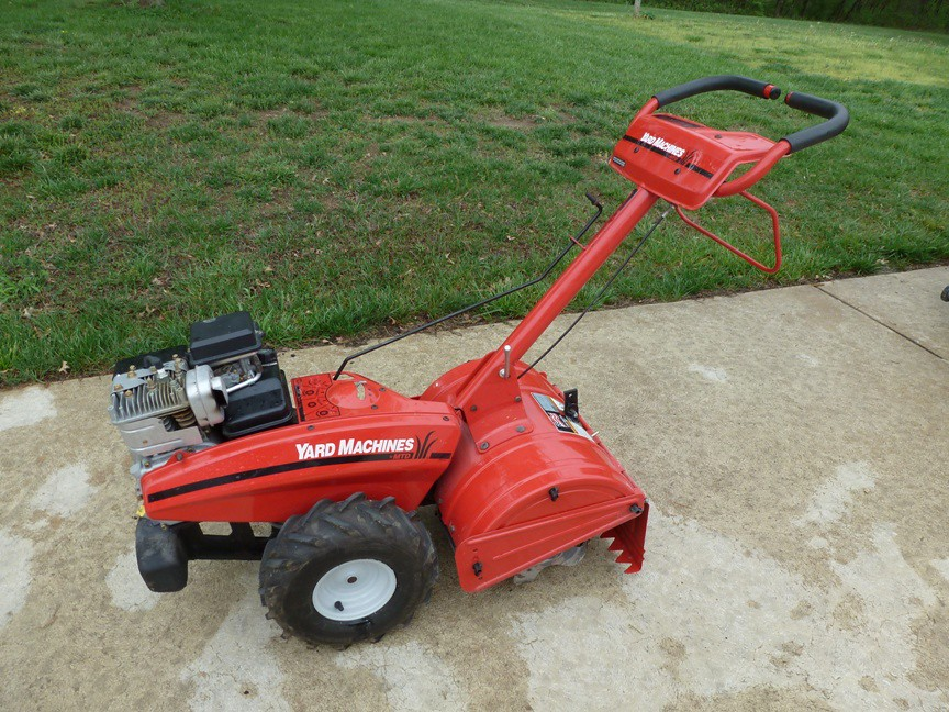 yard machine tiller 5hp
