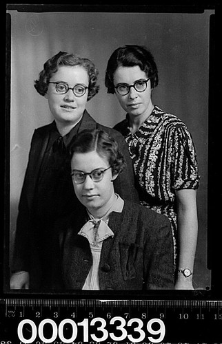 Group portrait of three women wearing glasses | by Australian National Maritime Museum on The Commons