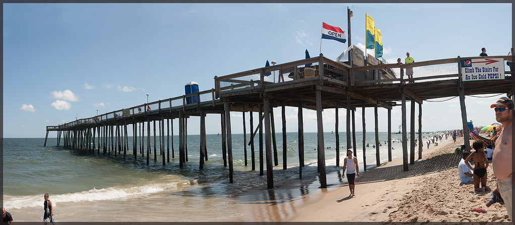 Ocean city fishing pier panorama ocean city md 7 for Maryland fishing piers