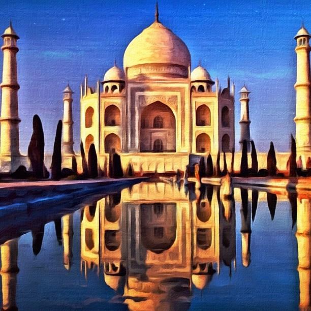Taj Mahal - digital painting from my @instacanvas gallery ...