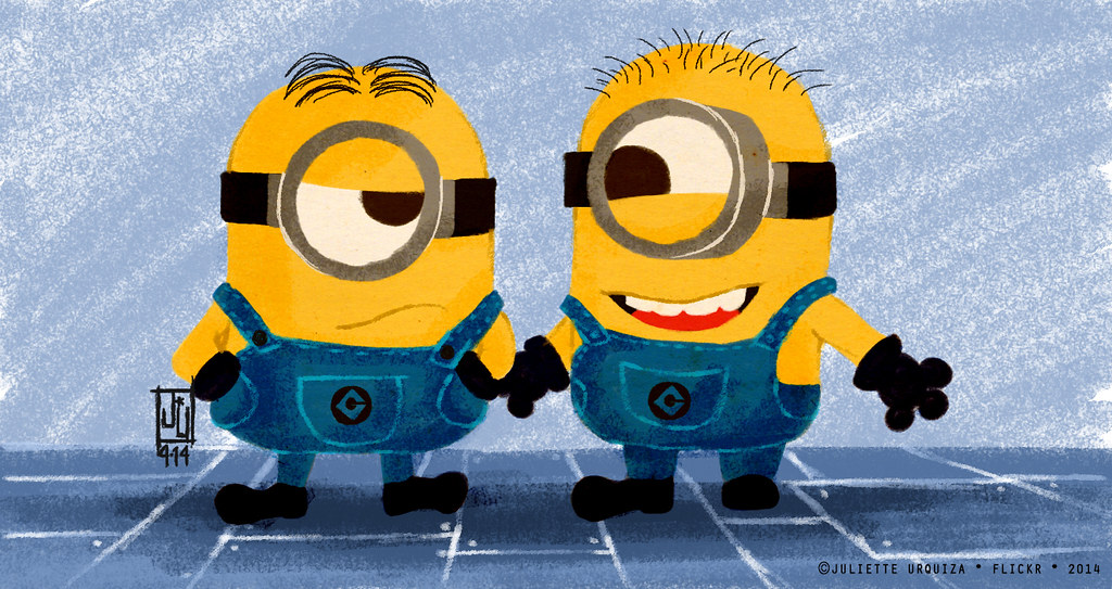MINIONS HOLDING HANDS
