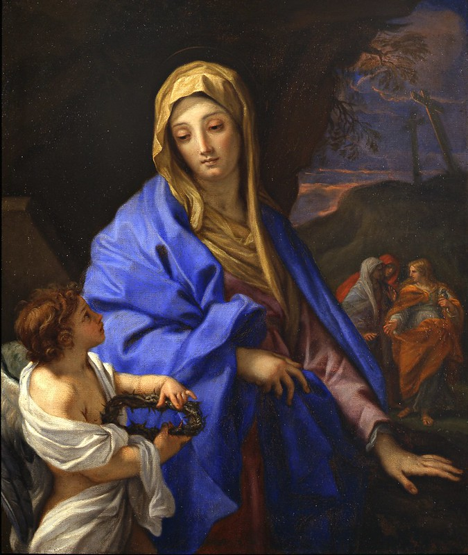 Carlo Maratta - Visitazione al Sepolcro con la Vergine e le tre Marie (c.1705)
