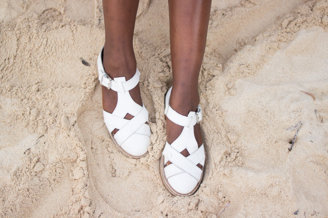 Urban Outfitters Deena & Ozzy Harvard T-Bar Shoes in White