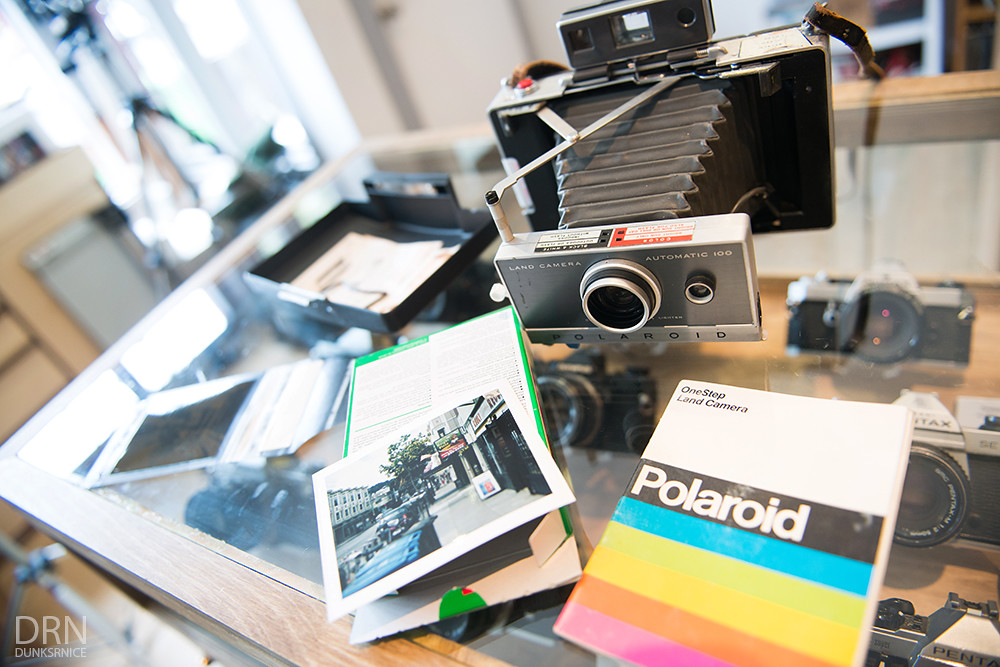 Polaroid Land Camera.