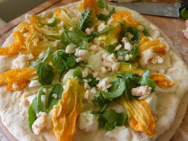 pizza fleur de courgette
