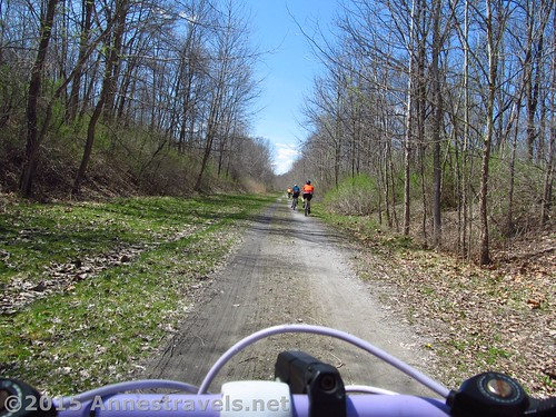Riding along the Lehigh Valley Trail, New York
