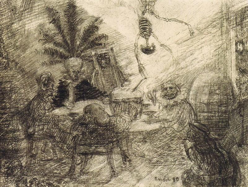 James Ensor - King Pest, original drawing, 1895