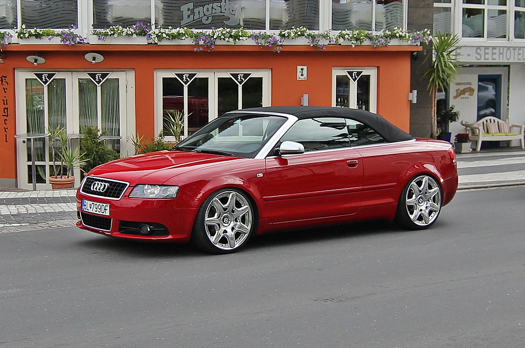 Audi A4 Cabrio Red Rot Bentley Rims Felgen Mycedes
