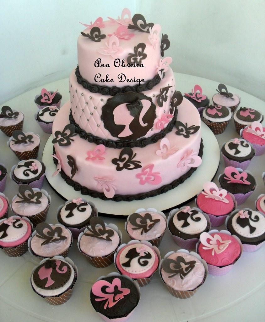 Simple Black And White Birthday Cakes