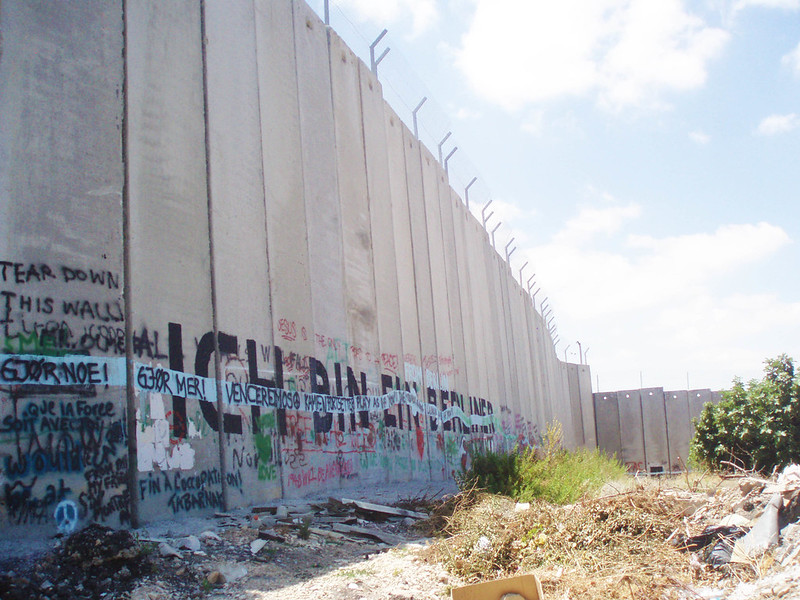 Image of the separation wall on the West Bank, which is something you'll see as a tourist in Palestine