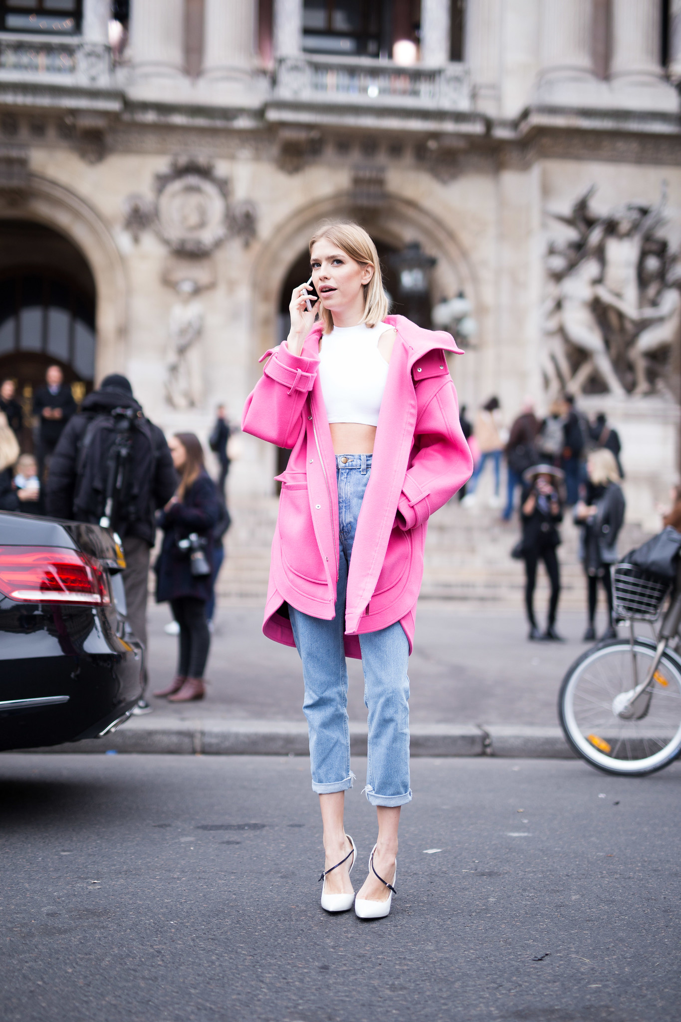 Street Style - Elena Perminova, Paris Fashion Week