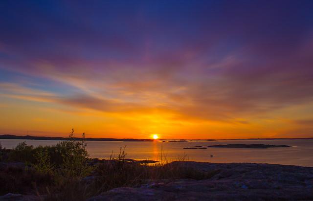 Solnedgång vid Lilleby 2015-05-15
