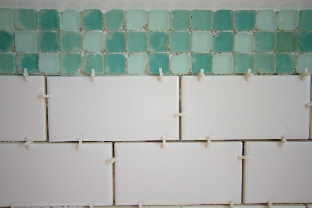 Subway And Sea Glass Bathroom Remodel Day 17 H