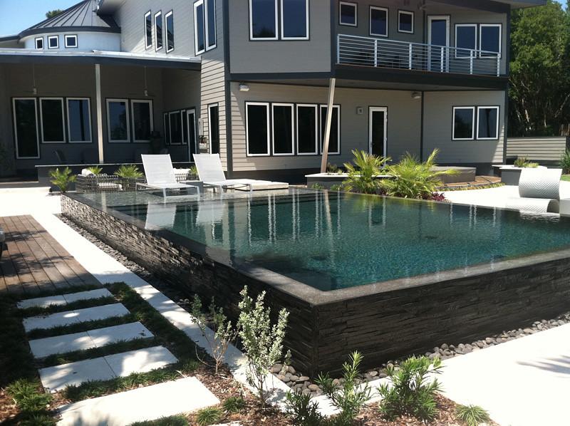 Sunstone Pearl Black Pearl Pool Designed Built And Plas Flickr