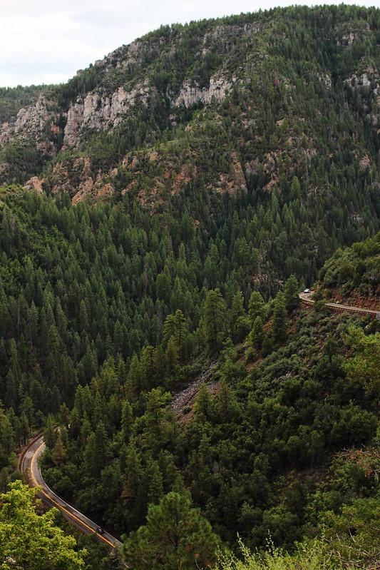 Tie lähellä Flagstaff, AZ