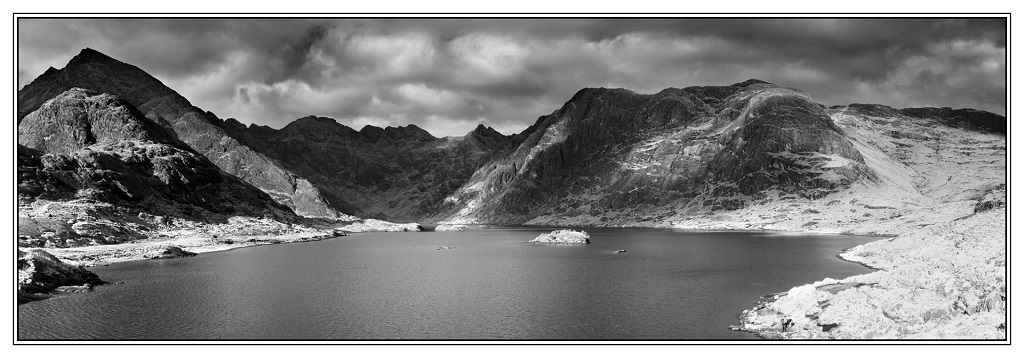 Loch Coruisk Panorama Mono