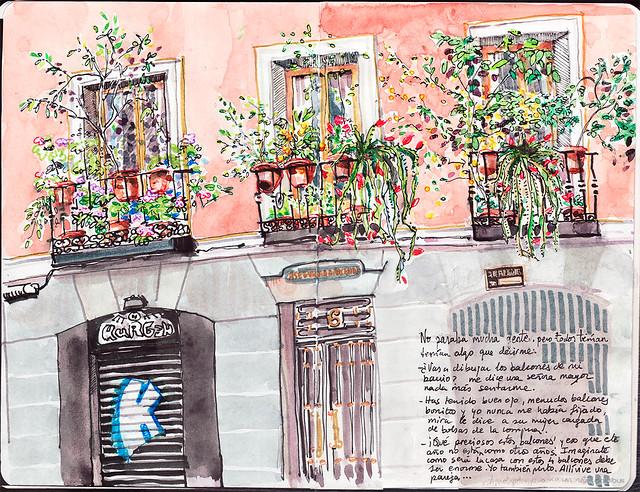 Balcones en Malasaña