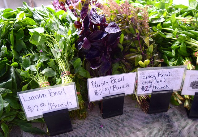 Basil Variaties at Venice Beach Farmers Market