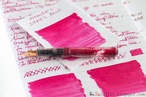 Noodler's Shah's Rose shading with Kaweco