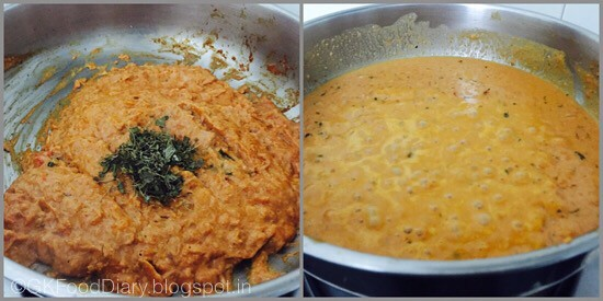 Paneer butter masala- step 3