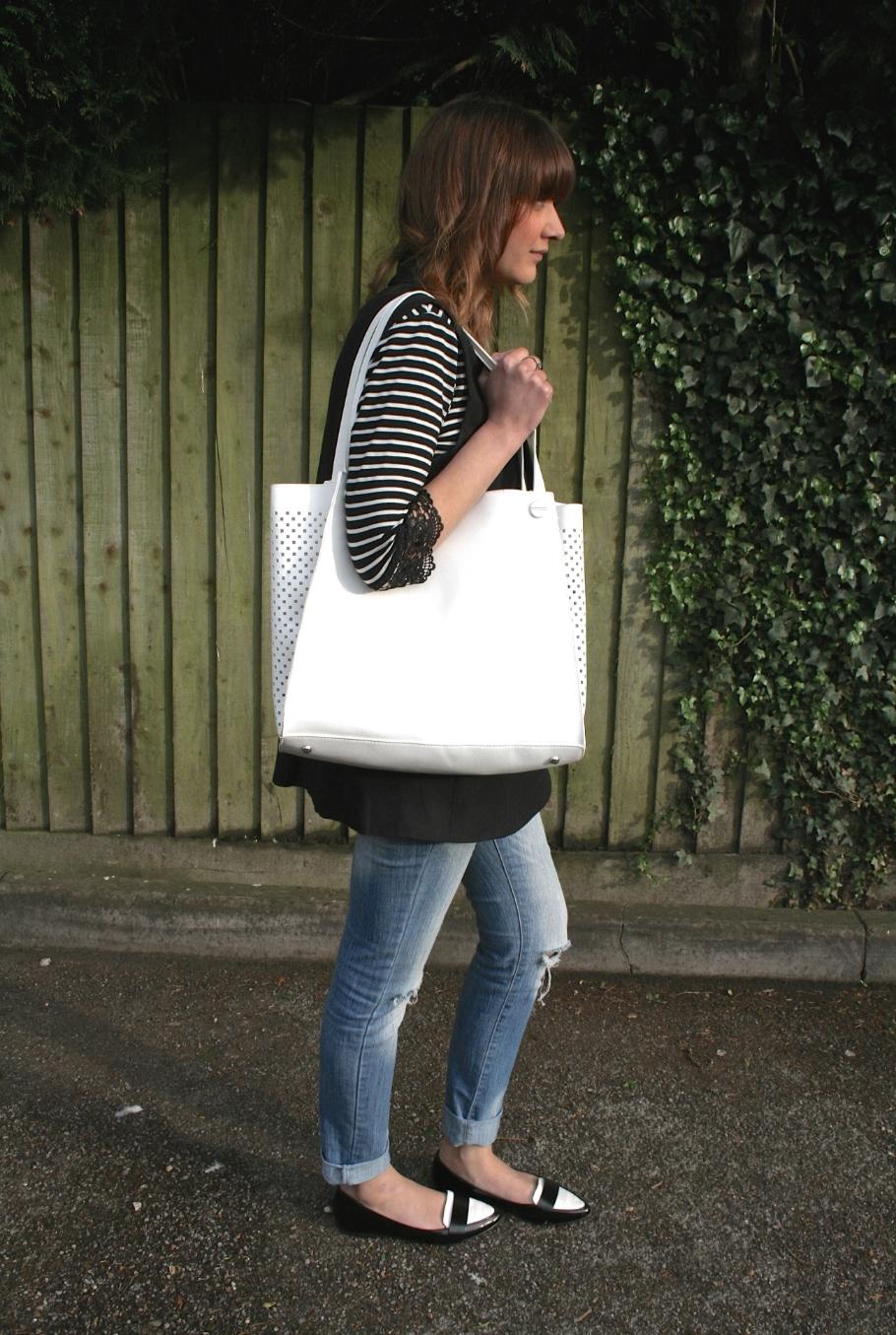 primark white shopper bag