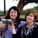 Jenny & Sharon enjoying a sundowner
