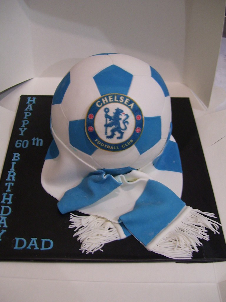 Chelsea Soccer Ball Cake This Is A Small Soccer Ball