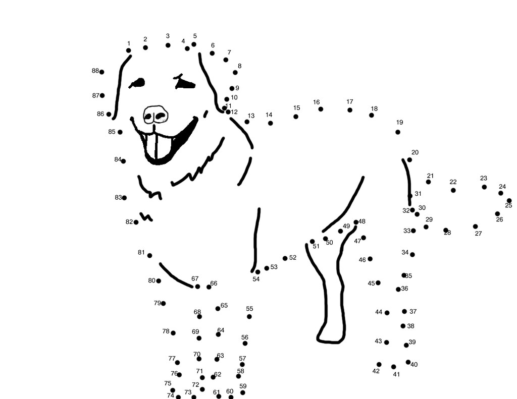 dot to dot dog Sidther 39 s Printables