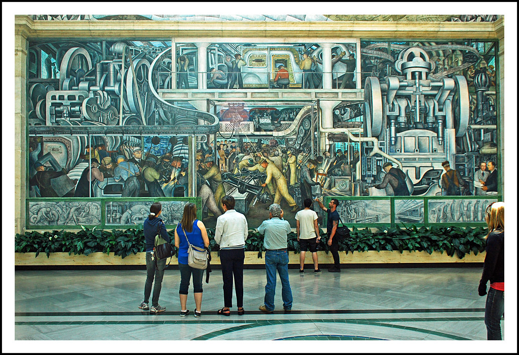 Diego rivera detroit industry mural detroit institute of for Diego rivera mural san francisco art institute