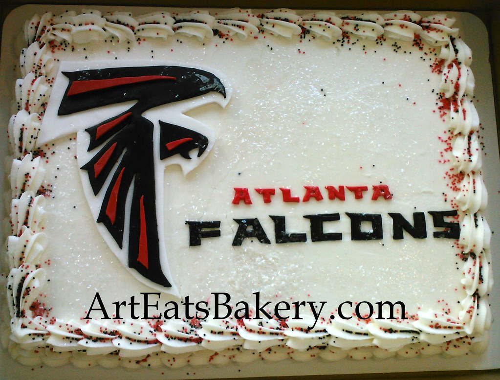 Atlanta Falcons Logo Butter Cream Men S Birthday Cake Desi