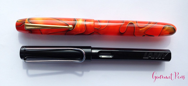 Review Edison Collier Persimmon Swirl Fountain Pen @EdisonPenCo @CouronneDuComte (7)