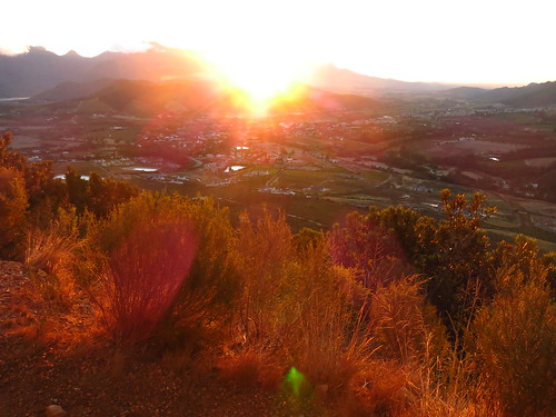 Sunset over the Franschhoek pass