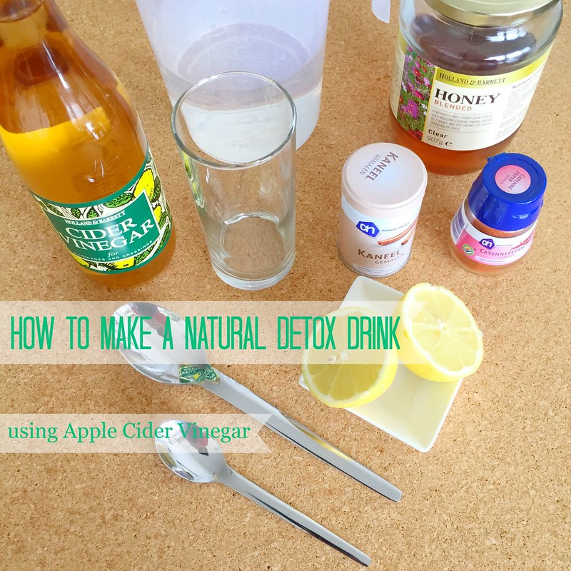 How to make a natural detox drink using Apple Cider Vinegar