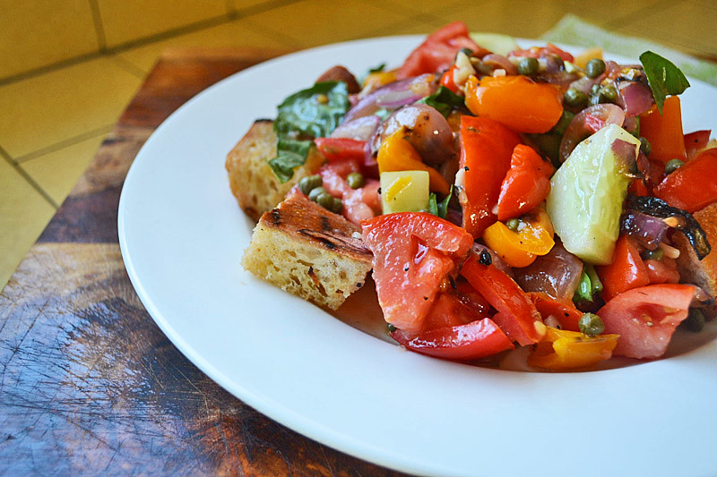 Grilled Panzanella Salad via LittleFerraroKitchen.com