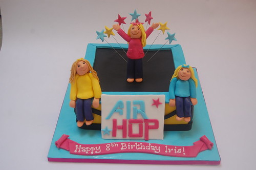 Trampolining parties are becoming very popular, so what better way of rounding off the party than with a matching Trampoline Cake? The Trampoline/Air Hop Cake - from £75.