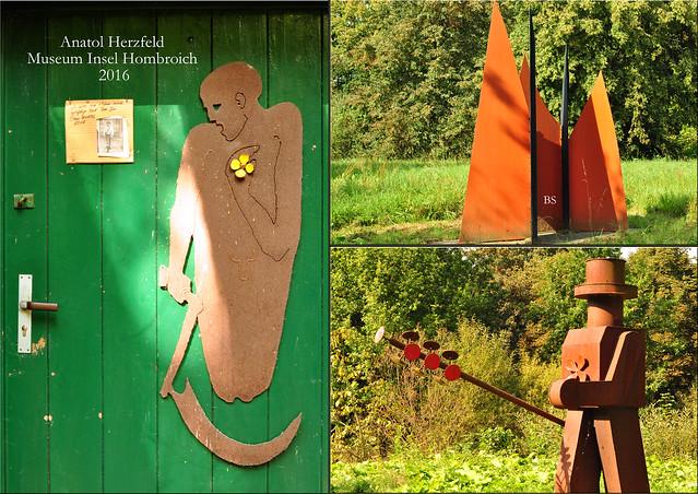"""Museum Insel Hombroich bei Neuss ... Professor Anatol Herzfeld ... Schüler von Josef Beuys - """"Seelsorge"""" ... Fotos und Collagen: Brigitte Stolle 2016"""
