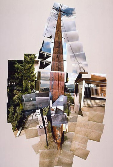 telephone pole  1982 photographic collage  edition  15 66x